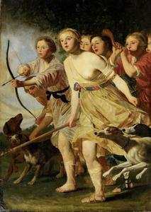 Diana en haar nimfen op jacht