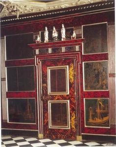 Lakwerk panelen in de slaapkamer van Christian IV in Slot Rosenborg, Kopenhagen