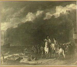 Aankomst van stadhouder-koning Willem III te Oranjepolder (31 januari 1691)