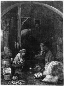 Keukeninterieur met een man en een vrouw