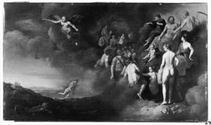 Mercurius brengt Pryche naar de Olympus
