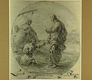Christus redt Petrus uit de zee