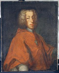 Portret van keurvorst Clemens August van Beieren (1700-1761) in bisschoppelijk ornaat