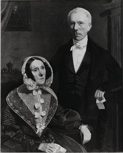 Dubbelportret van waarschijnlijk Adriaan Carel Visscher Bouricius (....-1852) en Charlotta Sara von Carnap (1790-1858)