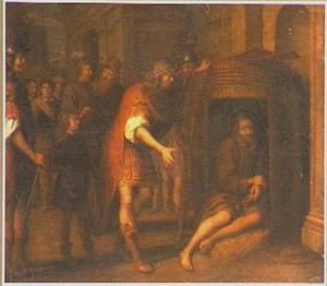 Alexander de Grote op bezoek bij Diogenes in de ton