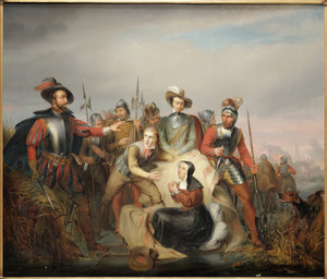 Lambert Melisz en zijn moeder door Spaanse soldaten ingehaald bij Hoorn