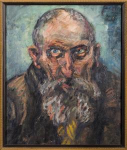 Portret van een oude man met baard (mogelijk een Rabbijn)