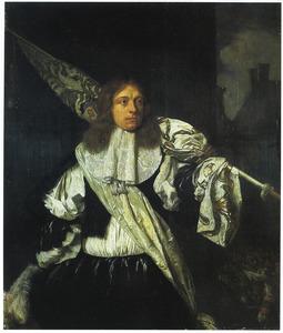 Portret van een vaandeldrager