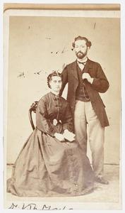 Portret van Johannes Theodorus Mouton (1840-1912) en Carolina Anna Troost (1841-1900)