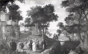 Landschap met Christus en de centurion te Kafarnaüm