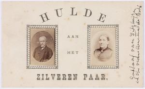 Portretten van Gustaaf Lodewijk Gerhard van Ditzhuyzen (1829-1900) en Clementine Susanna Francisca de Both (1834-1921)