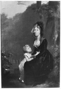 Portret van Dorothea Henriette Marie Louise de Pagniet (1751-1836) en Vincent Johan Reinier van Tuyll van Serooskerken (1792-1840)