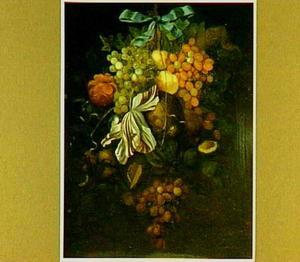 Festoen van vruchten en bloemen