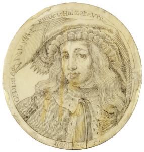 Portret van Dirk VI graaf van Holland (?-1157)