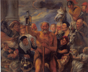 Diogenes zoekt een mens