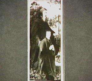 De H. Antonius Abt met stichter