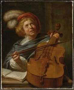 Cello spelende man
