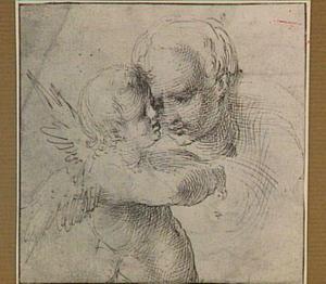 Putto and hoofd van een vrouw