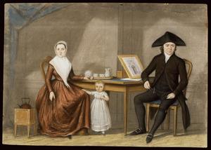 Portret van Hendrik Jan Lijsen (1765-1837), Hendrika van Rennes (1768-1854) en Elisabeth Lijsen (1797-....)