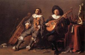 Zelfportret van Cornelis Saftleven (1607-1681) met Herman Saftleven (1609-1685)