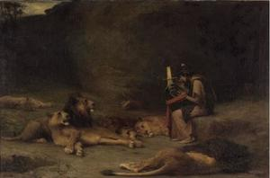 Orpheus charming the lions