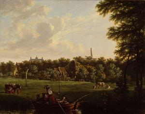De hofstede Hartenlust aan de Sloterweg bij Amsterdam