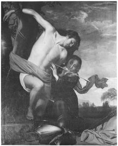De H. Irene verzorgt de wonden van de H. Sebastiaan na zijn marteling