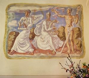 Apollinische muziek met cither en harp