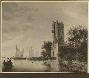 Riviergezicht met de Pellecussenpoort te Utrecht