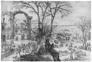 Winterlandschap met Janus (Januari)