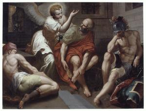 De bevrijding van Petrus (Handelingen 12:7-8)