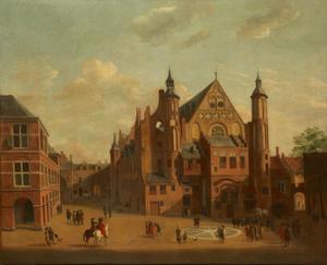 Gezicht op de Ridderzaal op het Binnenhof te Den Haag