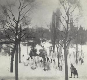Wintergezicht Oosterpark