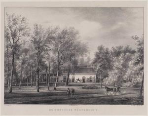 Parklandschap met gezicht op de hofstede Westerhout