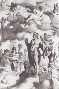 Hercules op de berg Olympus