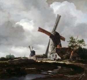 Landschap met molens bij Haarlem