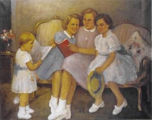 De vier dochters van koningin Juliana en prins Bernhard