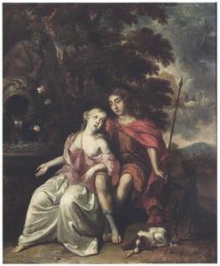 Venus en Adonis als geliefden