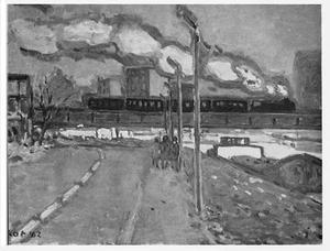 Spoorbrug te Luik