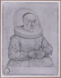 Portret van een vrouw met molensteenkraag