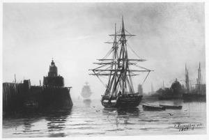 Tweemaster in de haven van Dordrecht