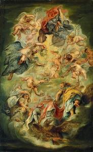 De apotheose van Jacobus I van Engeland