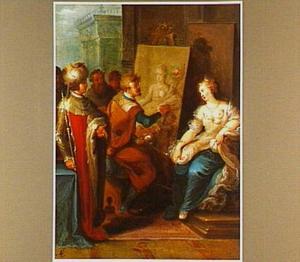 Apelles schildert Campaspe, de minnares van Alexander de Grote