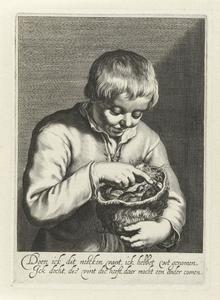 Jongen met een vogelnest
