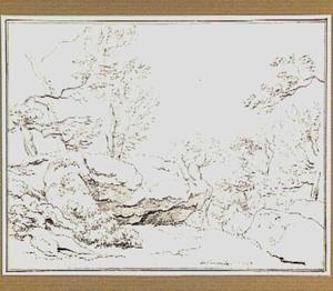 Rotslandschap met bomen in de omgeving van Belmonte