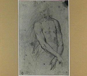 Studie van een staande figuur (Christus?)