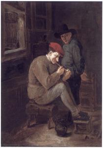 Twee figuren bij een open raam