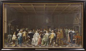 De bruiloft van Willem van Loon en Margaretha Bas