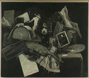 Vanitasstilleven (met overschilderde schedel)