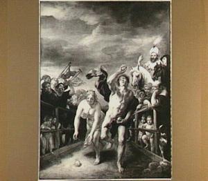 De wedstrijd tussen Hippomenes en Atalanta